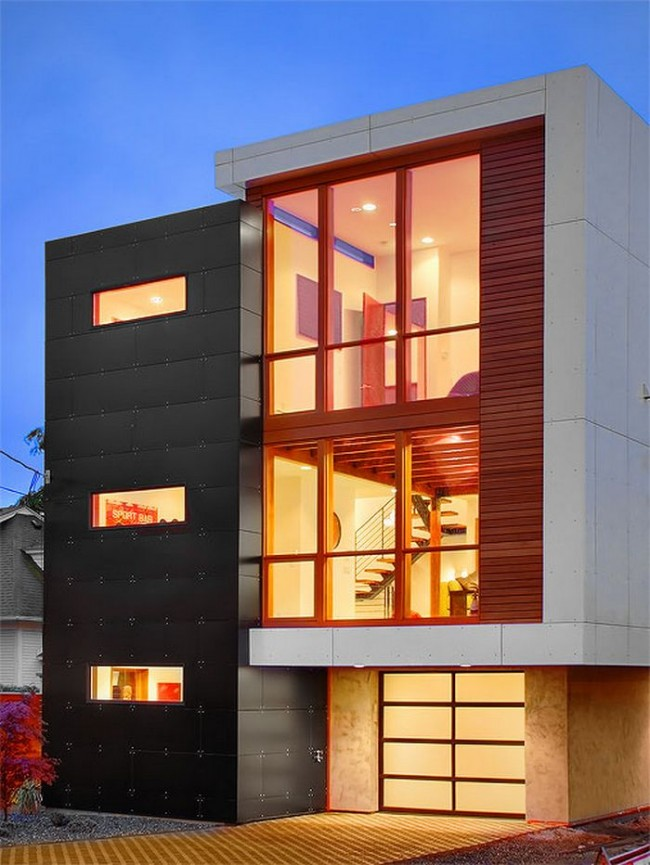 Large exterior plan for modern homes in mix colors