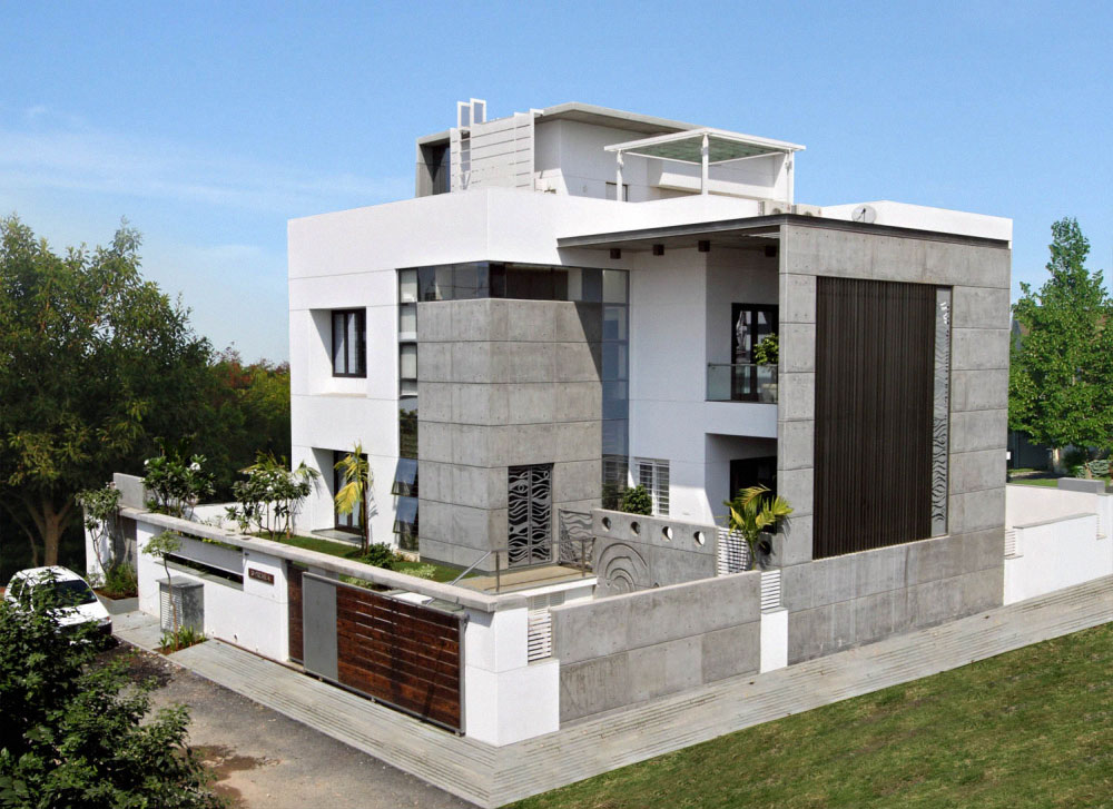 Interior exterior plan lavish cube styled home design for Modern villa exterior design