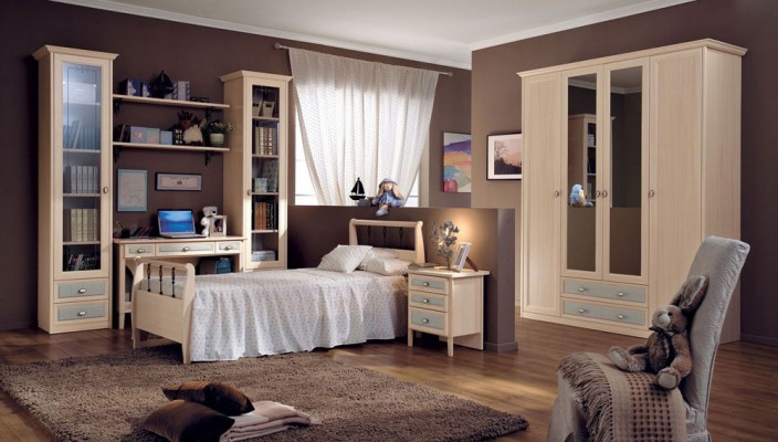 Wooden interior theme for children's room