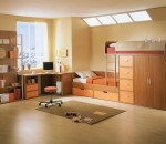 Wooden interior theme for kid's rooms