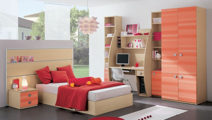 Colorful bedroom idea for the kids