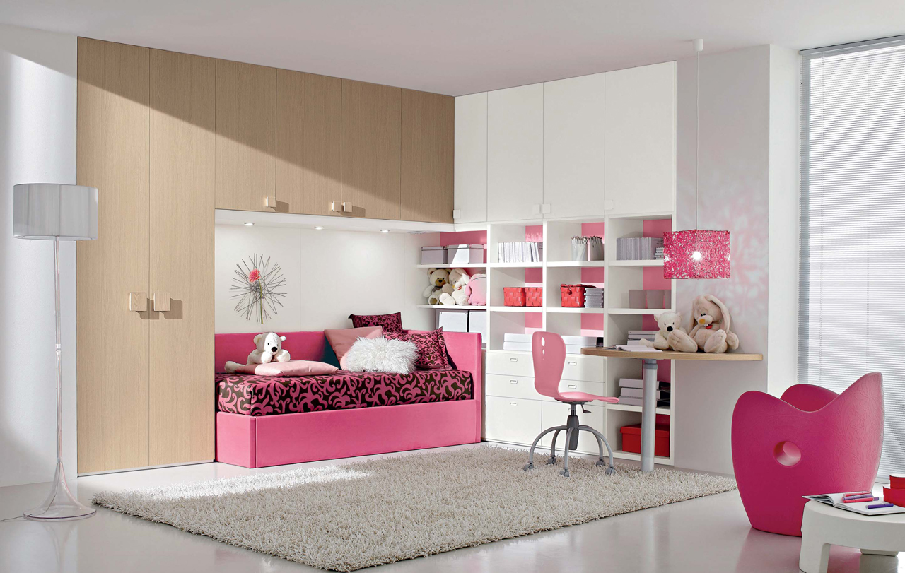 Interior exterior plan ideal pink bedroom idea for young for Pink teenage bedroom designs
