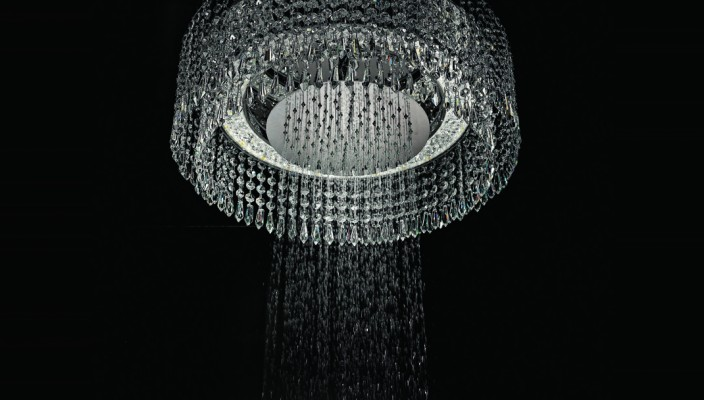 Stunning and magnificent chandelier style shower