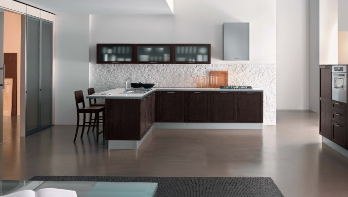 Compact kitchen idea for modern homes