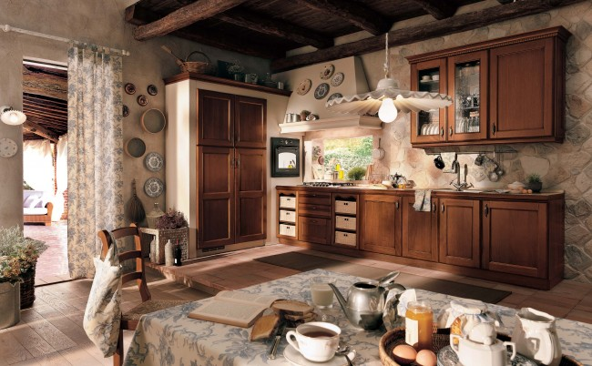 Kitchen interior idea with wooden theme
