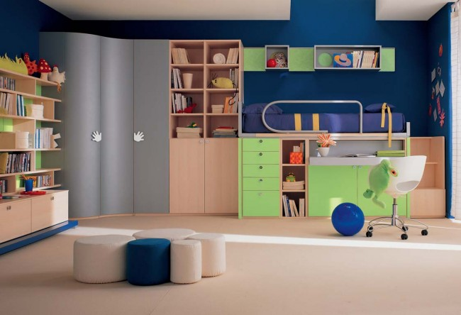 Neatly designed bedroom idea for kids