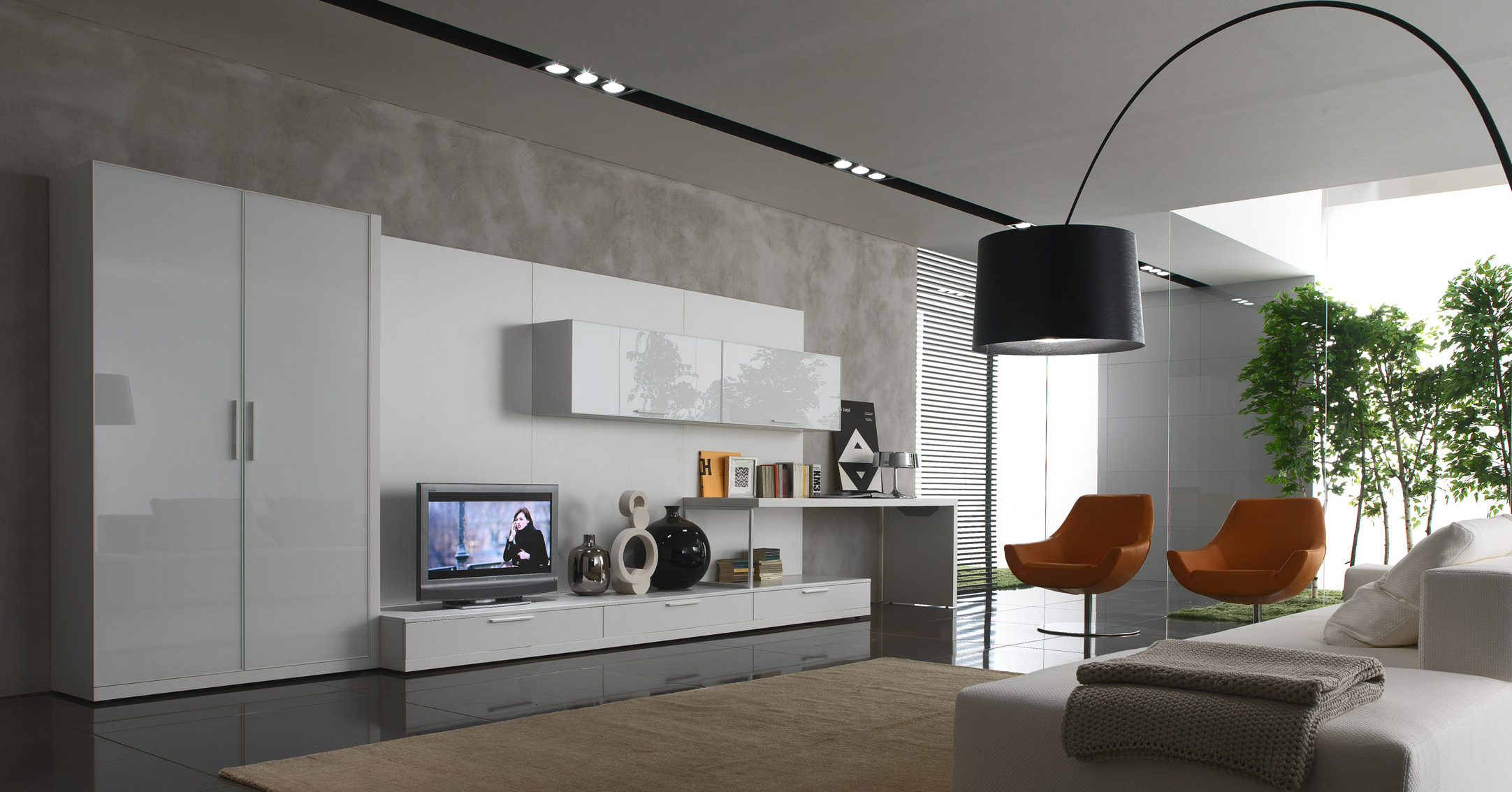 White And Grey Living Room