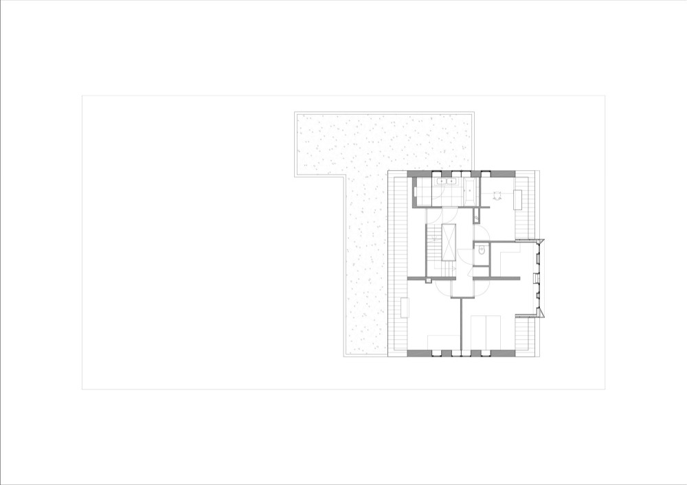 Interior exterior plan house hoefman floor plan by for Small house plans with character