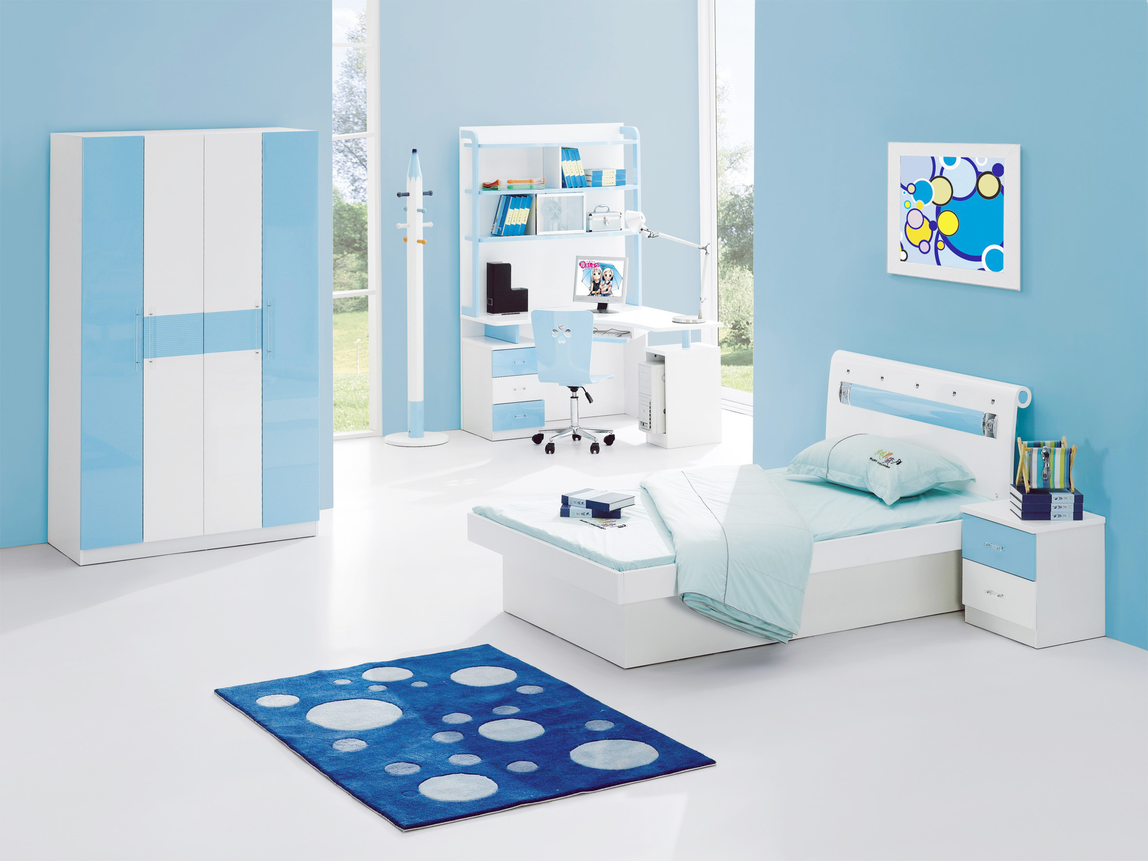 white - Bedroom Designs Blue