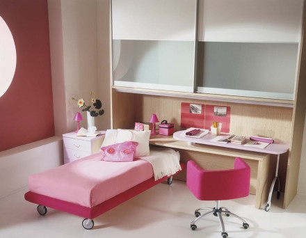 Pink Kids Bedroom Interior Interior Exterior Plan
