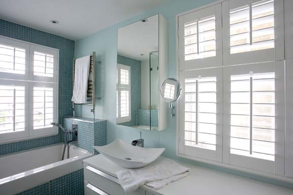 Interior Exterior Plan Light Blue Bathroom Interior Design