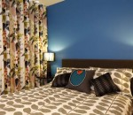 Funky Modern Blue Bedroom Interior Design