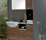Java Warm Cherry Bathroom Design