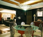 Dark Dining Room Interior