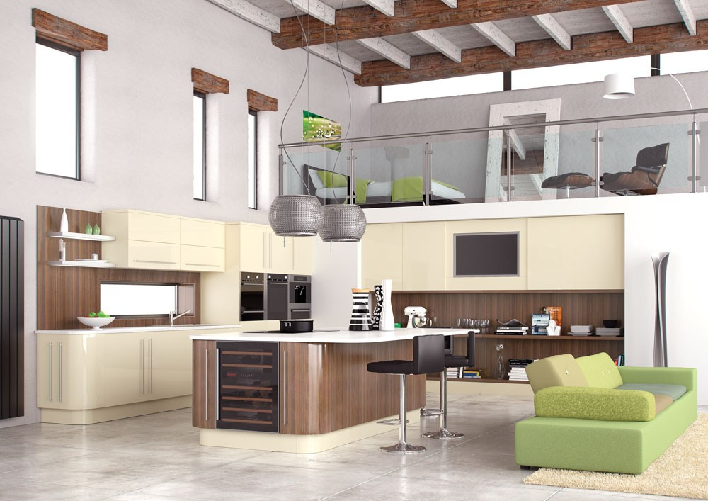 Interior Exterior Plan New York Cream Fitted Kitchen