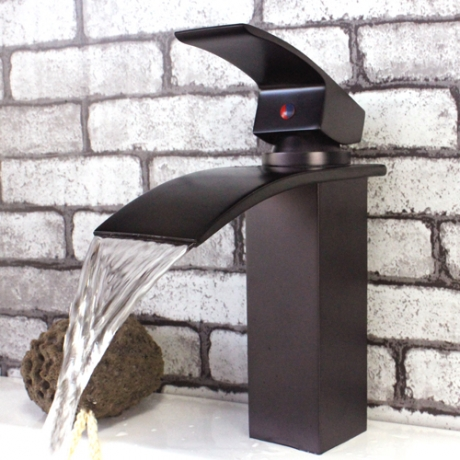 waterfall bathroom faucets