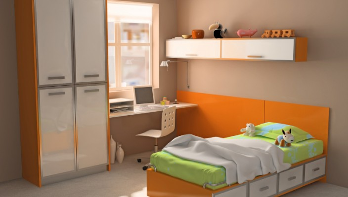 European Style Modern Bedroom for Kids