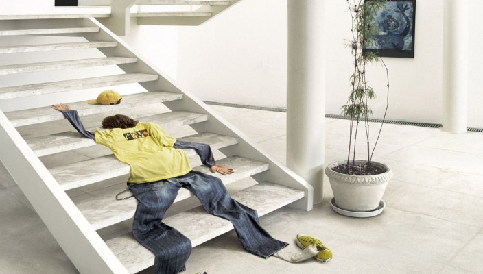 No-Banister Stair Design
