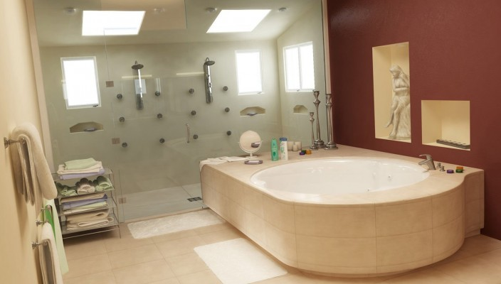 Inspiring Bathroom Concept with High End Designing