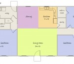 Ideal plan for modern three bedrooms based home
