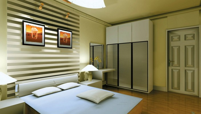Bedroom design brought alive by geometric patterns