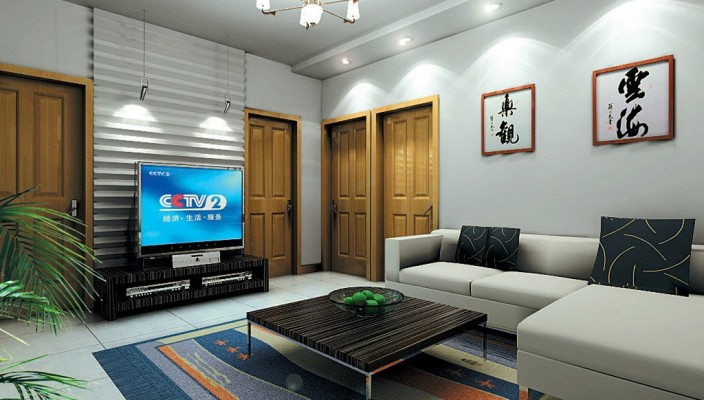 Uncomplicated Living Room Design