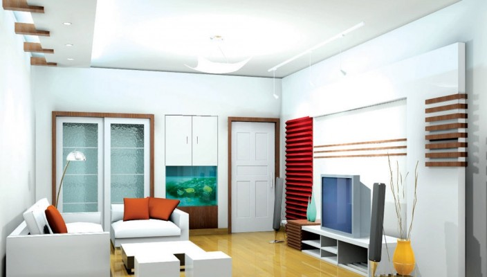 Colorful Living Room Design Concept