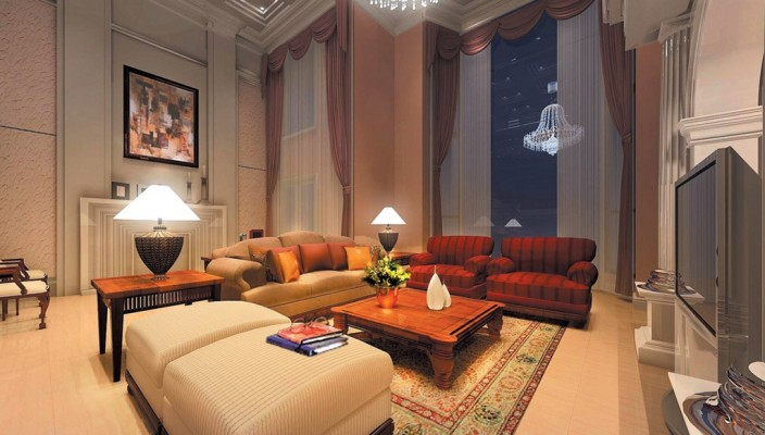 A Blend of Two - Living Room Design
