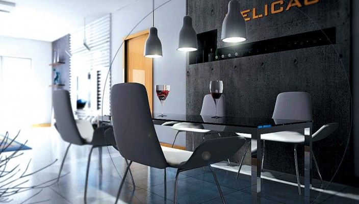 Comfortable and fresh dining room