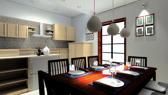 Contemporary and unique dining room