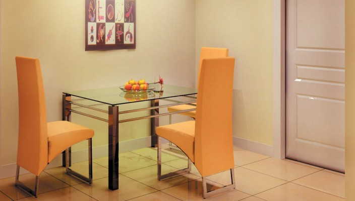A simple dining room offering convenience and aesthetic looks