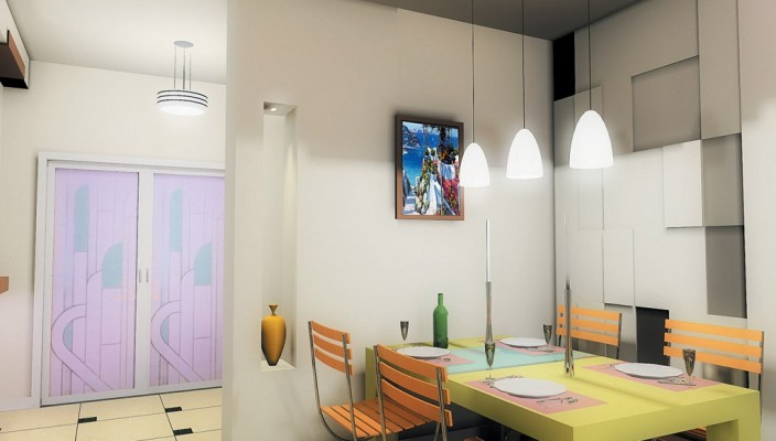 Hygienic dining room with great looks