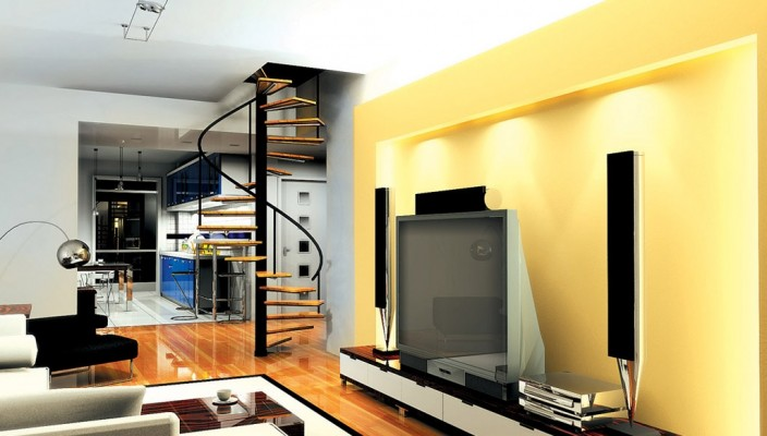 A cool innovation in living room design