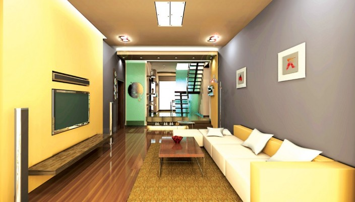 Living room design with an edge