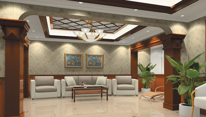 Living Room with Modern Touch to Culture