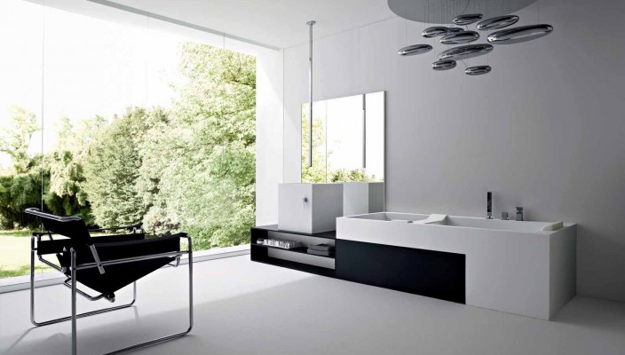 A futuristic bathroom design