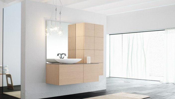 Create a master design with sandy cabinets