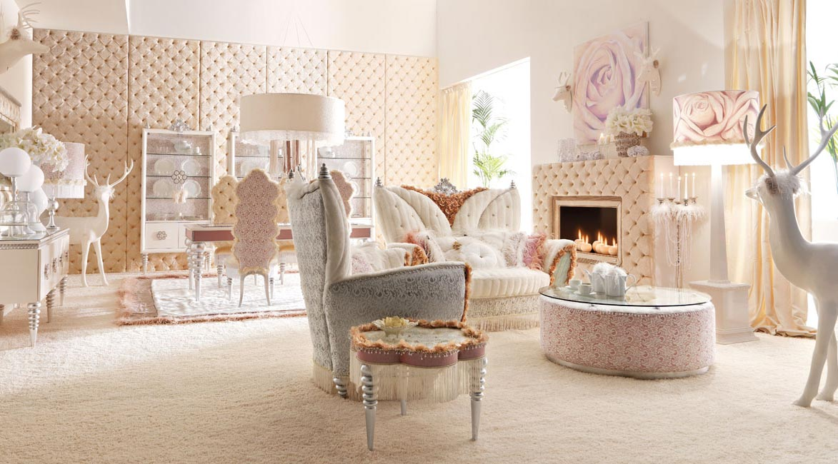 Interior Exterior Plan | Use pink and white color for airy ...
