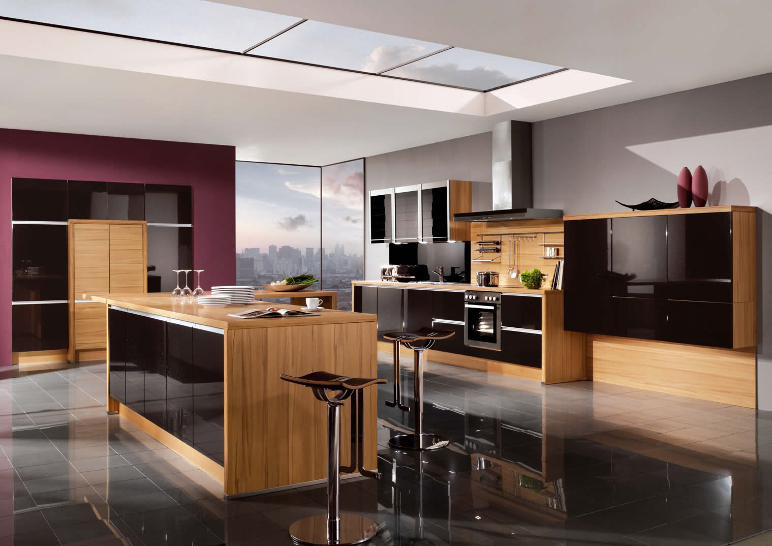 kitchen designs gloss interior exterior plan galaxy midnight high gloss 450