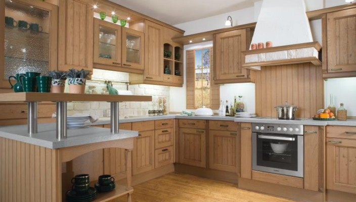 Interior Exterior Plan Wood Kitchen With Chimney