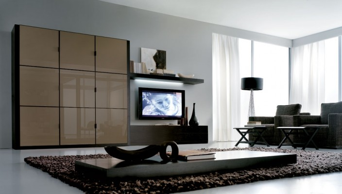 Teal and brown is a popular choice for a living room