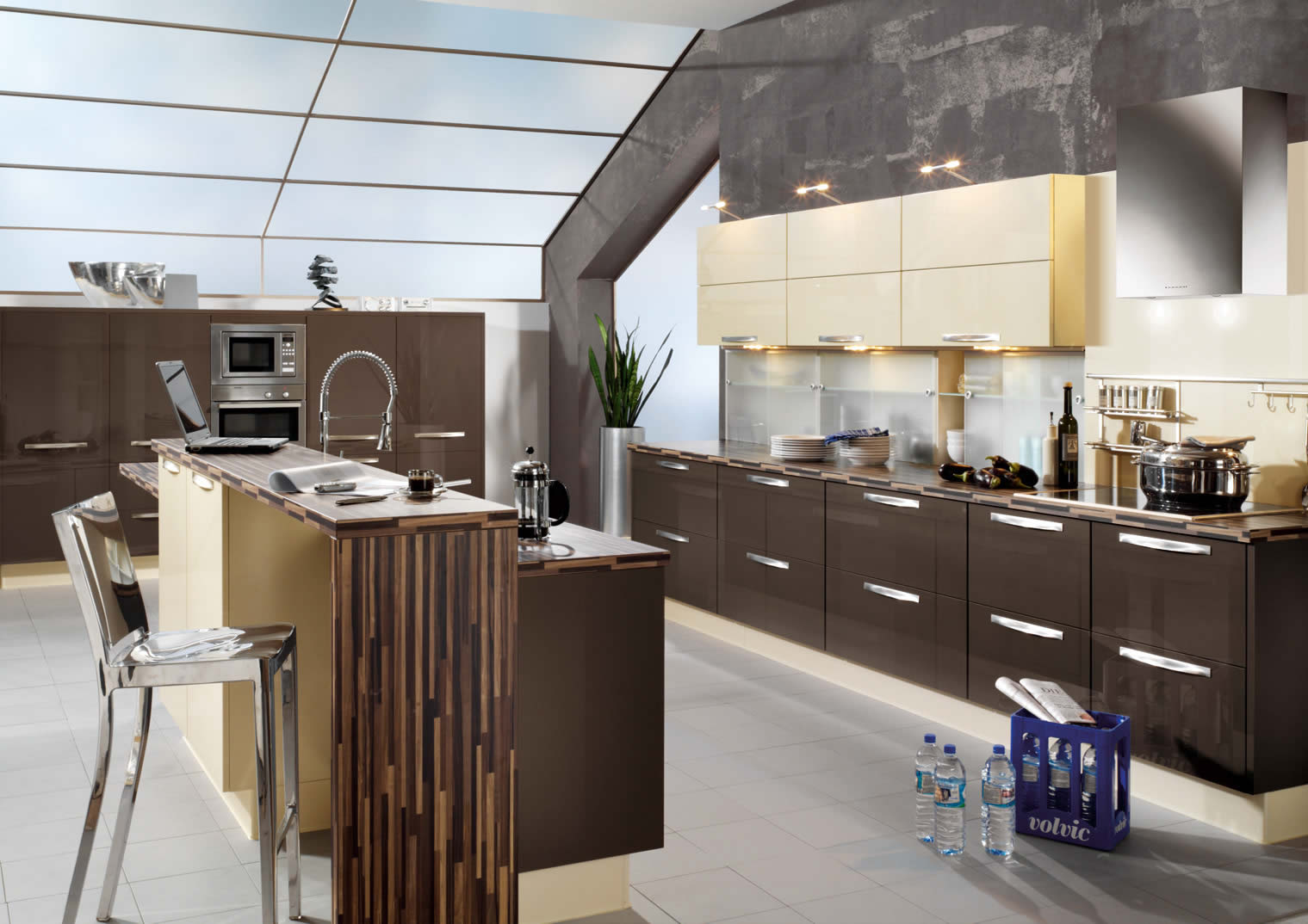 high gloss kitchen design ideas interior exterior plan add gloss elements to your kitchen 7046