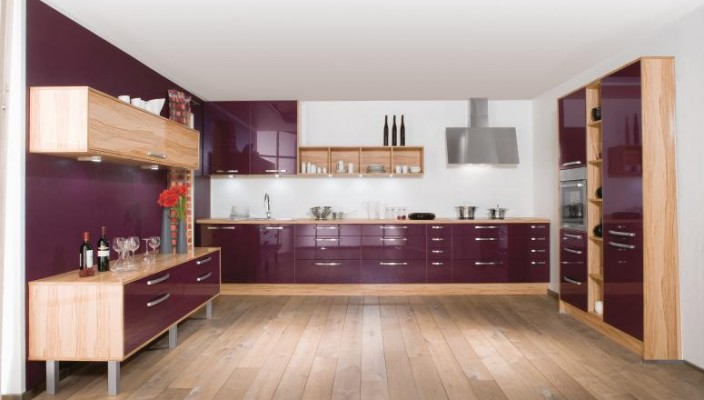 Fawn and Purple Kitchen Design
