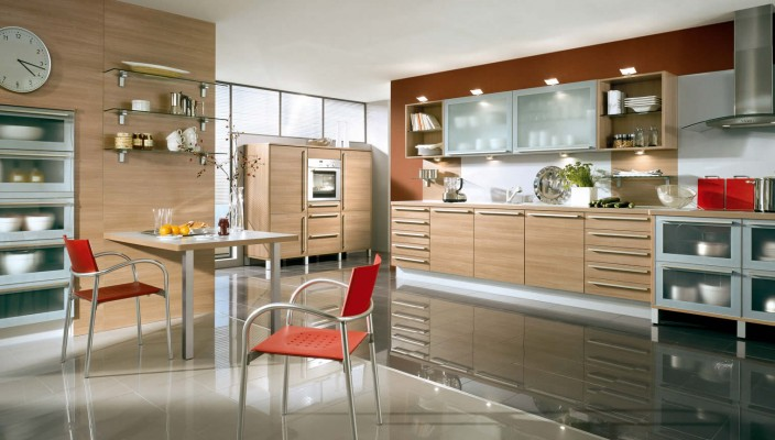 Add shades of brown to your kitchen for a dramatic impact