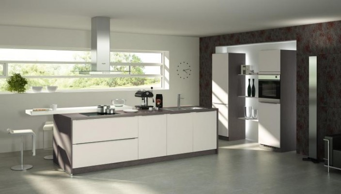 Spacious and simple kitchen