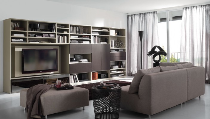 Living Room: The Beauty in Brown