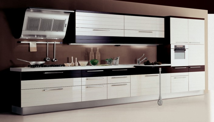 Contemporary Appliances with Chocolate Color Scheme