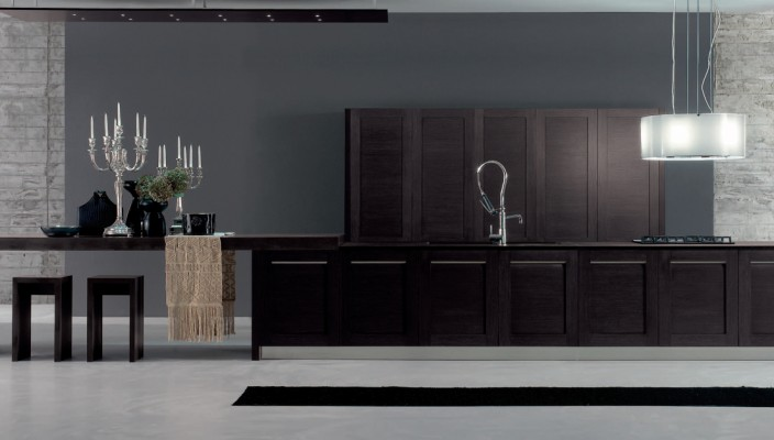 Contemporary Rubber wood Kitchen