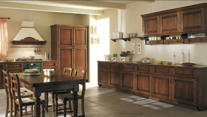 Choose complimentary shades for your kitchen walls and decor