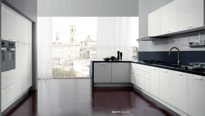 Complete Dual Color Theme for Modern Kitchen